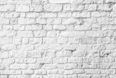 Photo pour White brick wall - image libre de droit