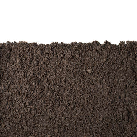 Photo pour Soil or dirt section isolated on white background - image libre de droit