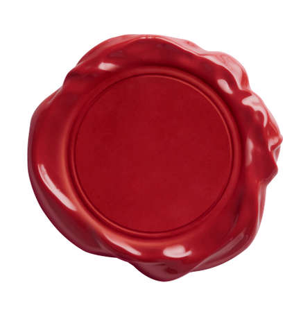 Foto de Red wax seal isolated on white with clipping path included - Imagen libre de derechos
