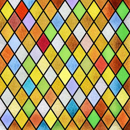 Foto de colorful abstract stained glass window pattern background - Imagen libre de derechos