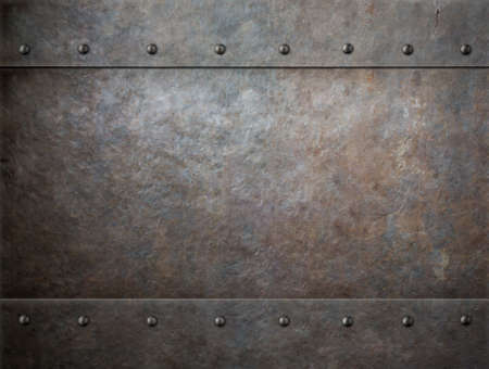 Photo pour grunge metal with rivets background - image libre de droit