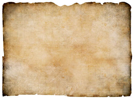 Photo for Old blank parchment treasure map isolated. Clipping path is included. - Royalty Free Image