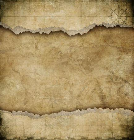 Photo pour old torn paper vintage map background - image libre de droit