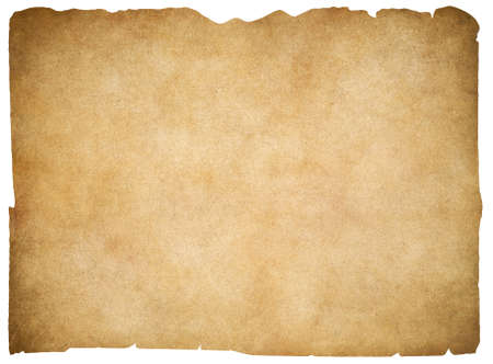 Foto de Old blank parchment or paper isolated. Clipping path is included. - Imagen libre de derechos