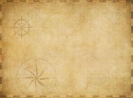 Foto de old blank vintage nautical map on worn parchment background - Imagen libre de derechos