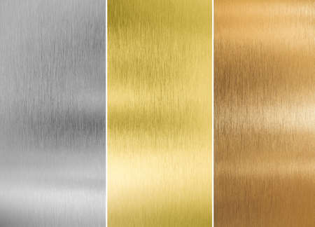Foto de high quality silver, gold and bronze metal textures - Imagen libre de derechos