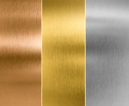 Foto de silver, gold and bronze metal texture backgrounds - Imagen libre de derechos