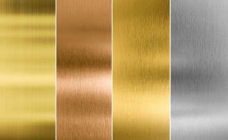 Photo pour Stitched silver, gold and bronze metal texture backgrounds - image libre de droit
