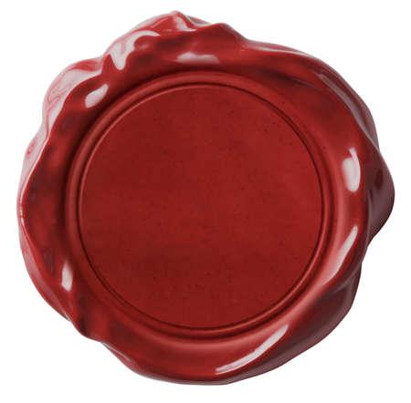 Foto de Red wax seal or signet isolated on white - Imagen libre de derechos