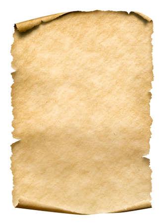 Photo pour Old paper manusript or parchment vertically oriented - image libre de droit
