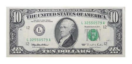 Photo pour 10 US dollars banknote - image libre de droit