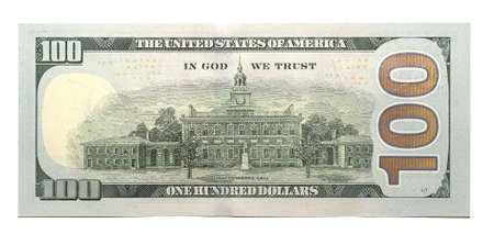 Photo pour New 100 U.S. dollar banknote - image libre de droit
