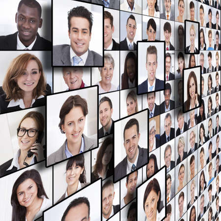 Foto de Full frame shot of business people collage - Imagen libre de derechos