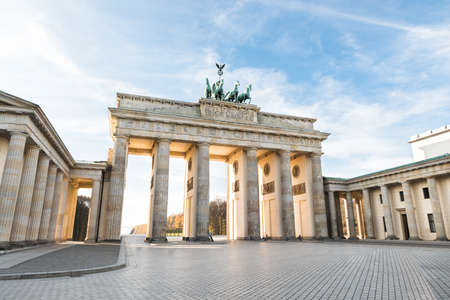 Foto de The Famous Brandenburg Gate In Berlin. Germany - Imagen libre de derechos