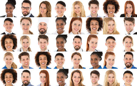 Set Of Multi-racial People From Various Occupations