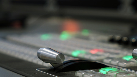 Photo for Studio video mixer. Technology on TV. technology. mixer, Studio - Royalty Free Image