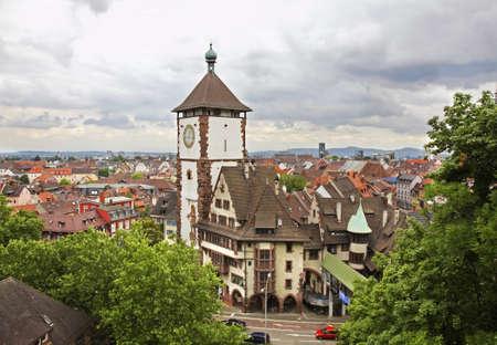 Foto de Panoramic view of Freiburg im Breisgau. Germany - Imagen libre de derechos