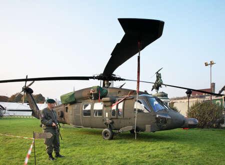Foto de Military helicopter in Vienna. Austria - Imagen libre de derechos