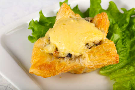 Photo for Mushroom pastry with cheese - Royalty Free Image