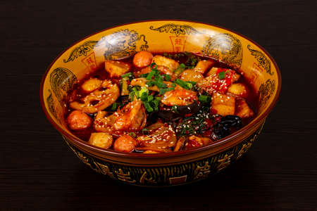 Photo for Chinese cuisine Mala Tang soup - Royalty Free Image