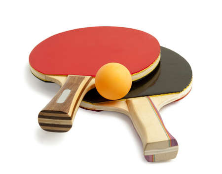 table tennis paddles and balls