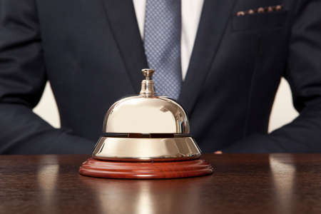 Photo for Hotel Concierge. Service bell at the hotel - Royalty Free Image