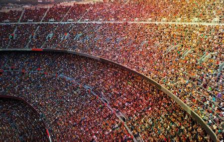 Foto de Fans at the big football stadium - Imagen libre de derechos