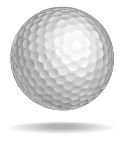 Photo for Golf ball vector illustration. White ball with shadow - Royalty Free Image