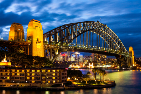 Photo for Sydney Harbour Bridge at Blue Night - Royalty Free Image
