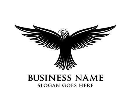 Illustration pour brave and bold eagle vector logo design - image libre de droit