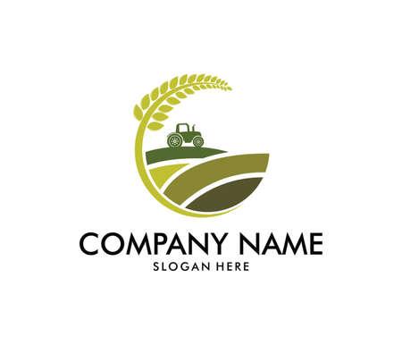 Illustration pour vector logo design perfectly suitable for agriculture. - image libre de droit