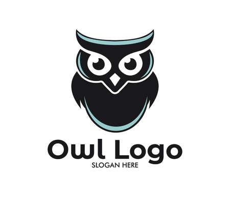 Ilustración de owl vector logo design template - Imagen libre de derechos