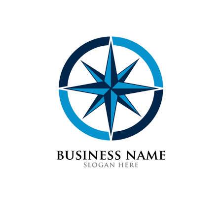 Ilustración de simple compass vector logo design illustration inspiration template - Imagen libre de derechos
