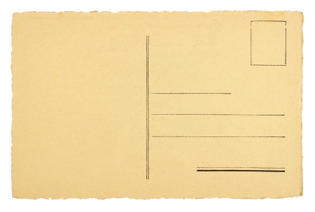 Photo pour Blank Postcard Isolated on White - image libre de droit