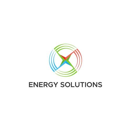 Ilustración de energy solutions logo vector - Imagen libre de derechos