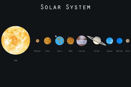 Illustration pour The planets of the solar system. Vector illustration. - image libre de droit