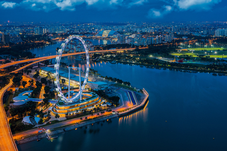 Photo for City scape of Singapore city, Singapore - Royalty Free Image