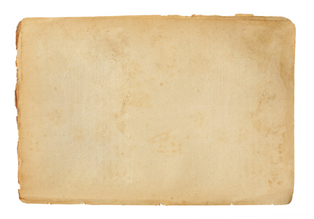 Photo pour sheet of old paper isolated on a white background - image libre de droit