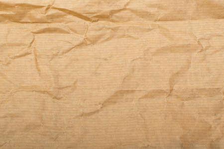 Foto de Wrinkled Kraft Paper Texture. Natural Brown Vintage Paper Background - Imagen libre de derechos