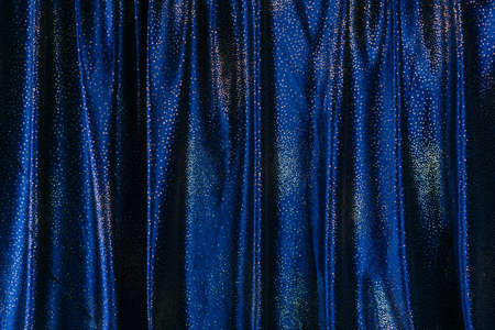 Photo for Blue glittering curtain - Royalty Free Image
