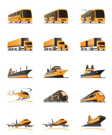 Photo pour Passenger and cargo transportation - image libre de droit