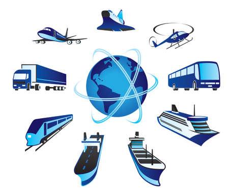 Photo pour Passenger and cargo transportations - image libre de droit