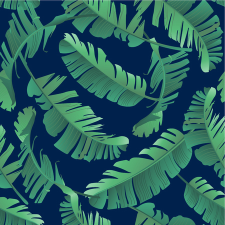 Illustration for Watercolor illustration of tropical leaves, jungle. - Royalty Free Image