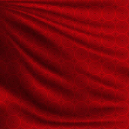 Illustration pour Beautiful background for your design Chinese New Year. Red oriental pattern on wavy silk fabric. Realistic vector illustration. - image libre de droit