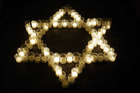 Photo for Star of David made with candles. Religion and spirituality - Royalty Free Image