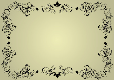 Abstract vintage background frame for design use