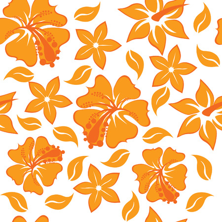 Floral seamless background for yours design use. For easy making seamless pattern just drag all group into swatches bar, and use it for filling any contours.