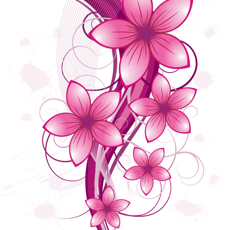 Foto de Floral background for design use. Vector illustration. - Imagen libre de derechos
