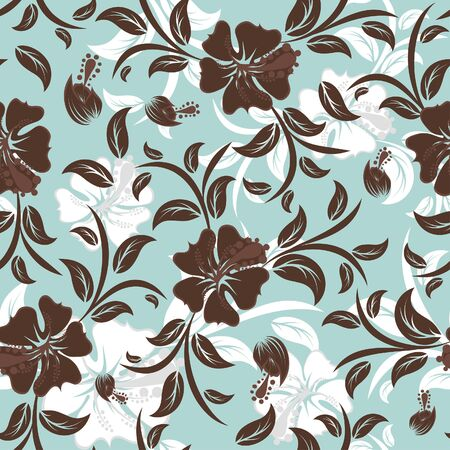 Seamless   floral background. For easy making seamless pattern just drag all group into swat mural