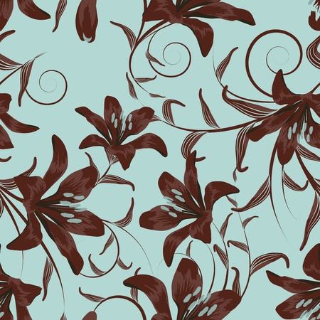 Seamless vector floral pattern. For easy making seamless pattern just drag all group into sw mural